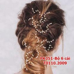 Bộ trâm cài tóc cô dâu 6 cái xinh xắn