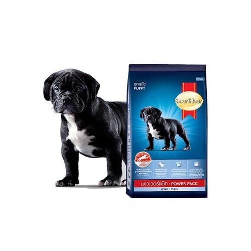 Thức ăn cho chó con dưới 1 tuổi phát triển cơ bắp smartheart power pack puppy túi 1kg