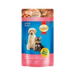 Thức ăn cho chó con vị gà pate Smartheart Puppy 130gr