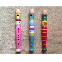 Còi gỗ dạng khèn sắc màu đồ chơi cảm thụ âm nhạc cho bé đồ chơi gỗ
