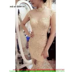 Đầm body ren phối lưới phong cách sành điệu quyến rũ