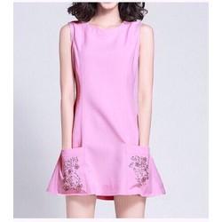 Đầm suông phối tui đính kim sa