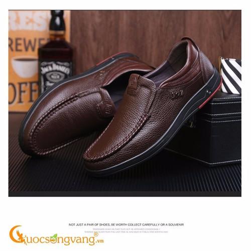 Giày nam công sở giày nam da thật GLG052 nâu - 7708802 , 7066916 , 15_7066916 , 611000 , Giay-nam-cong-so-giay-nam-da-that-GLG052-nau-15_7066916 , sendo.vn , Giày nam công sở giày nam da thật GLG052 nâu