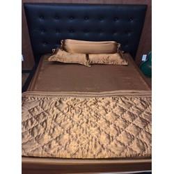Bộ chăn ga gối giường phi lụa Thái Tuấn cao cấp sang chảnh-PHI035