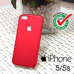 Ốp lưng iPhone 5 dẻo đỏ nhung