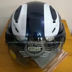 Mũ bảo hiểm phản quang GRS A913k màu xanh tím than bóng