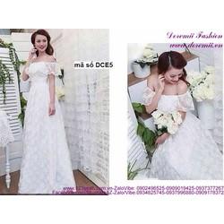 Đầm dạ hội cô dâu trể vai sang trọng quyến rũ sDCE5