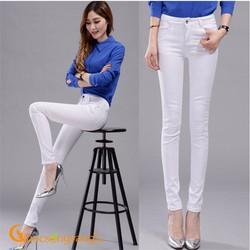 Quần nữ quần jean nữ đẹp màu trắng GLQ042