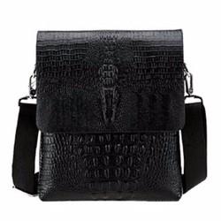 Túi đeo chéo đựng ipad thời trang, túi da vân cá sấu STĐ12