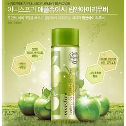 Tẩy trang mắt môi táo xanh Apple Juicy Lip và Eye Remover