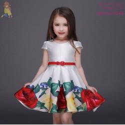 váy đầm sinh nhât, dự tiệc, dạo phố kiểu công chúa, hàn quốc cho bé
