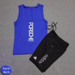 Set bộ quần áo tập gym ba lỗ PC110