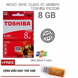 THẺ NHỚ 8GB TOSHIBA EXCERIA MICRO SDHC CLASS 10 48MB