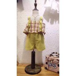 Set: quần short, áo hai dây - HÀNG QUẢNG CHÂU