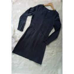 Đầm thun nữ cổ tim 2 túi tay dài 65_75kg