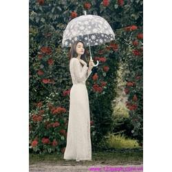 Đầm ren trắng dạ hội đi tiệc tự tin nổi bật sDD832
