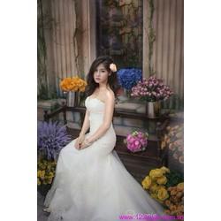 Đầm cô dâu cúp ngực váy lưới quyến rũ kiêu sa sDD876