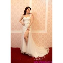 Đầm cô dâu cúp ngực tay con váy đuôi cá quyến rũ sDD871