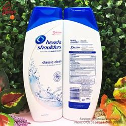 Dầu Gội Head Shoulders Classic Clean Dandruff Shampoo 400ml