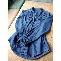 áo sơ mi jeans hai túi