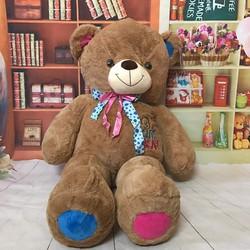 Thú bông gấu bông tai chân xanh hồng 1m1