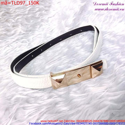 Thắt lưng đầm bản nhỏ dây da cao cấp sang trọng TLD97