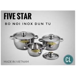 Bộ nồi Five star đun từ