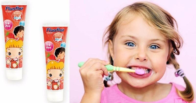 Kem đánh răng Fluorflo Pháp - dành cho bé 3 đến 6 tuổi 1