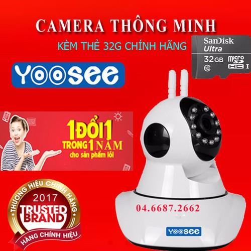 Camera wifi Yoosee tặng kèm thẻ 32G
