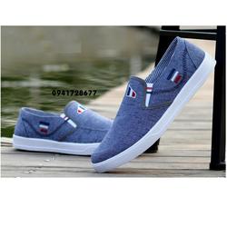 Giày thể thao nam giày lười Jean  three stripes-VSNG0009