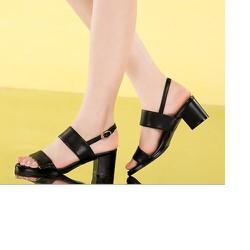 Sandal 2 quai ngang màu đen