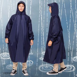 Áo mưa vải dù bao chống thấm kín 2 bên không xẻ tà - hàng loại 1