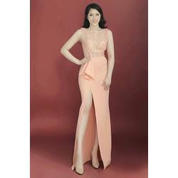 Đầm dạ hội xẻ tà cao cấp