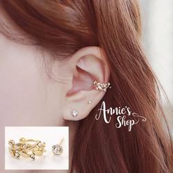 Set khuyên vành tai Olive 2c không bấm lỗ cực thời trang style Korea