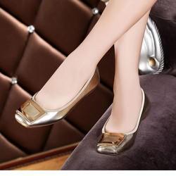 Giày búp bê đế bệt mũi vuông