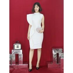 Đầm thiết kế - Đầm body cánh tiên cổ lọ