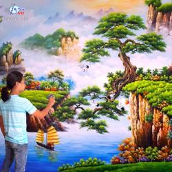 Khóa học vẽ tranh tường tại xưởng ở Hà Nội.01