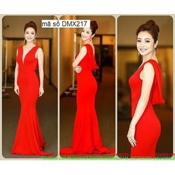 Đầm dạ hội màu đỏ cổ đỗ quyến rũ như Jennifer Phạm DDH64