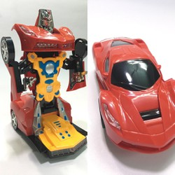 Đồ chơi xe Ô tô biến hình thành siêu nhân Robot 2 in 1