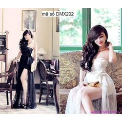 Đầm dạ hội dài cúp ngực nơ to thiết kế gợi cảm như Bella DDH69