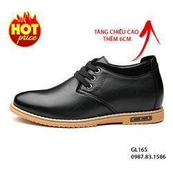 Giày Da Tăng Chiều Cao Nam Cao Cấp, Da Thật, Kiểu Dáng Trẻ Trung