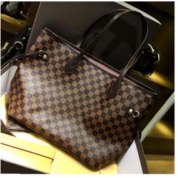 Bộ túi ví màu nâu lớn - gồm túi và ví cùng màu