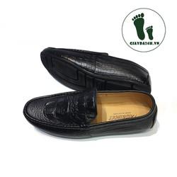 Giày mọi giày da vân cá sấu nổi bật