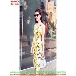 Đầm body 2 dây hoa văn nổi bật xinh đẹp