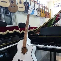 ĐÀN GUITAR ACOUSTIC VE85- Trắng, Xanh, Hồng-Tặng kèm bộ dây Guitar