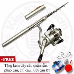 Bộ cần câu cá du lịch KT Mini M2 Silver 100cm