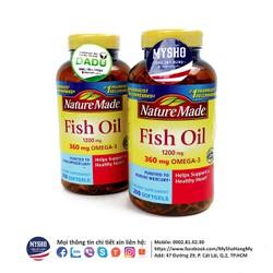 Fish Oil Nature Made 200v - Hỗ trợ tim mạch, bổ mắt