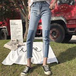 quần jeans skinny phối màu Mã: QD1585
