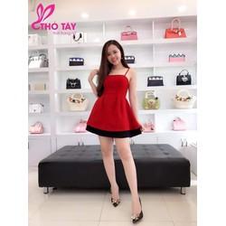 Đầm xoè kim tuyến hotgirl
