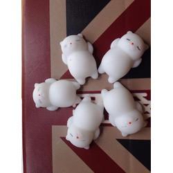 5 con mochi squishy mèo trắng